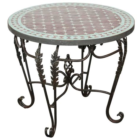 moroccan mosaic tile side table indoor or outdoor