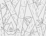 Coloring Bamboo Teens Drawing Cranes Thanks Teen Colored Template sketch template