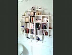 Bibliothèque Murale Design : bibliotheque suspendue ~ Teatrodelosmanantiales.com Idées de Décoration