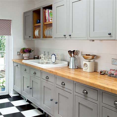grey country kitchen makeover grey country kitchen ideal home 1487