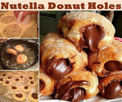 Nutella Donut Holes Food Tutorial Pictures, Photos, and