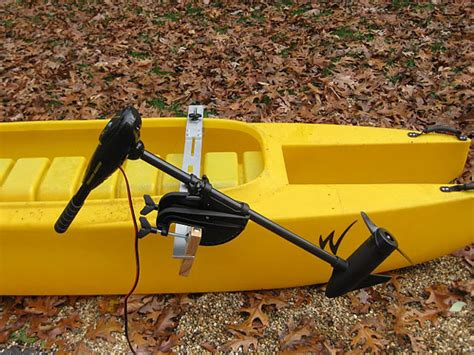 Electric Trolling Motor For Kayak by Cl Mounted Side Mount For Fishing Kayak Electric