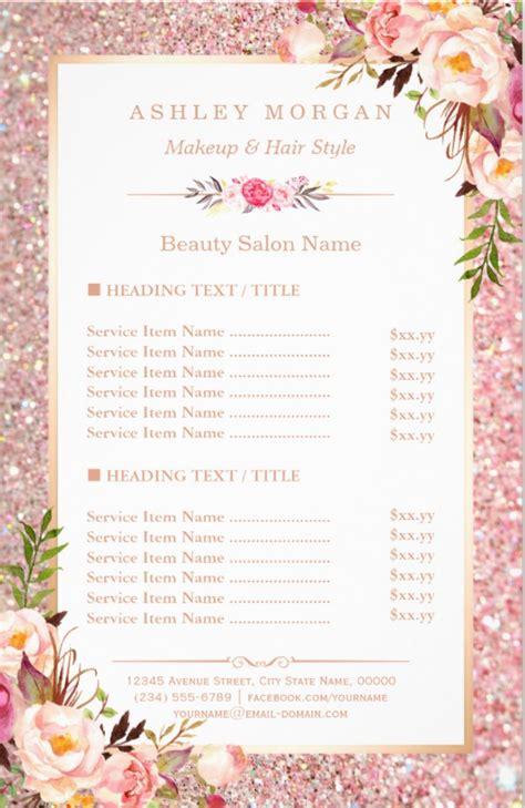 eye catching salon menu templates psd ai