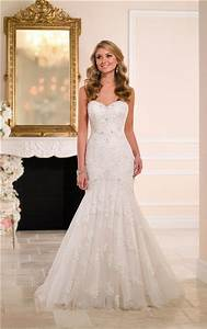 fit and flare strapless sweetheart lace beaded wedding With strapless fit and flare wedding dress