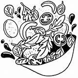 Salad Drawing Sketch Sara Getdrawings Realistic Pencil sketch template