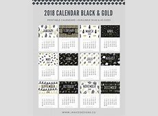 2018 Calendar Black & Gold A5 Binder Clipboard Wire