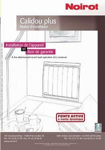 Noirot Calidou Plus 2000w : mode d 39 emploi noirot calidou radiateur lectrique ~ Edinachiropracticcenter.com Idées de Décoration