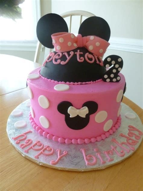 pink minnie mouse cakes  crystal