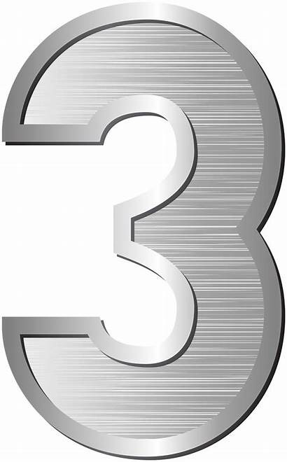 Number Clip Three Clipart Numbers Transparent Yopriceville