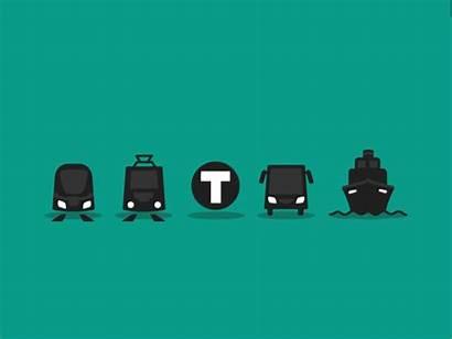 Transportation Transport Animated Gifs Transit Giphy Import