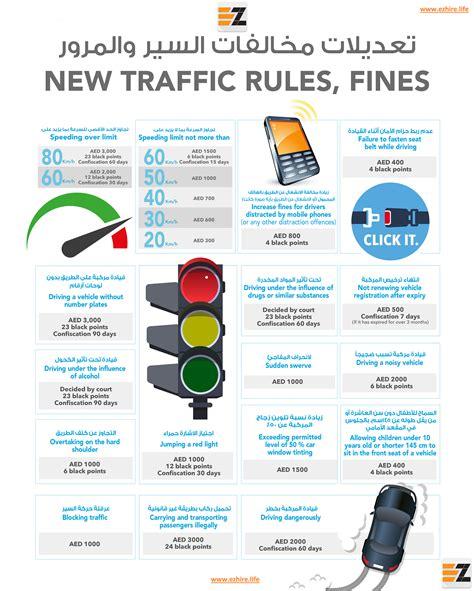 eZhire Dubai New Traffic Fine Rules - eZhire