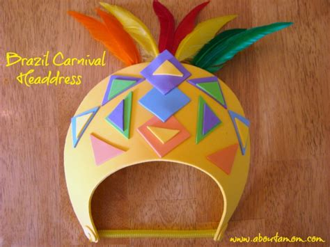 travel to south america summer crafts for at 927 | Brazil Carnival Headdress Craft for Kids