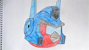 How to draw Angry Birds Transformers Energon Optimus Prime ...
