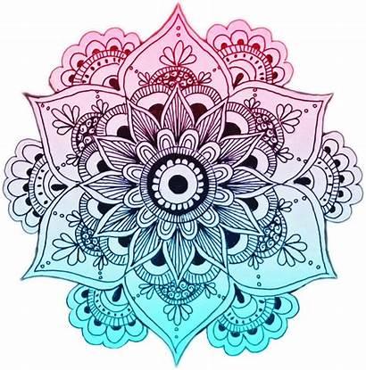 Mandala Tattoo Zentangle Clipart Teal Flower Bat