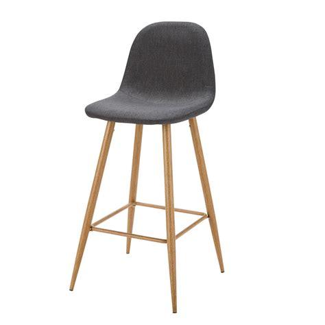 maison du monde chaise de bar chaise de bar en tissu gris anthracite clyde maisons du