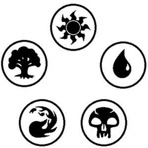 Magic The Gathering Mana Symbols