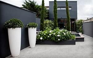 ha 02 maison en ville bordeaux contemporain terrasse With affiche chambre bébé avec pot de fleur haut design
