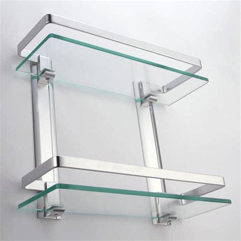 small glass shelves wall mount  decor