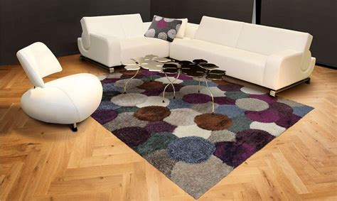 tapis lounge collection dance shaggy violetgris carre