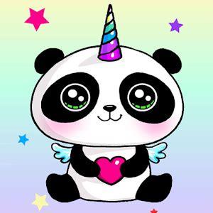 Cute Cartoon Wallpaper Backgrounds Panda Unicorn Wallpapers Pandicorn Backgrounds Android Apps On Google Play