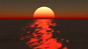 Animated Sunset Over The Ocean Stock Footage Video 4405499 ...