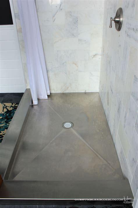 master bathroom stainless steel shower pan water