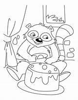 Raccoon Coloring Pages Racoon Baby Birthday Drawing Celebrating Printable Library Clipart Popular Clip Getdrawings Coloringhome sketch template