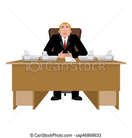 bureau patron salle bureau ouvrier desk patron directeur chef