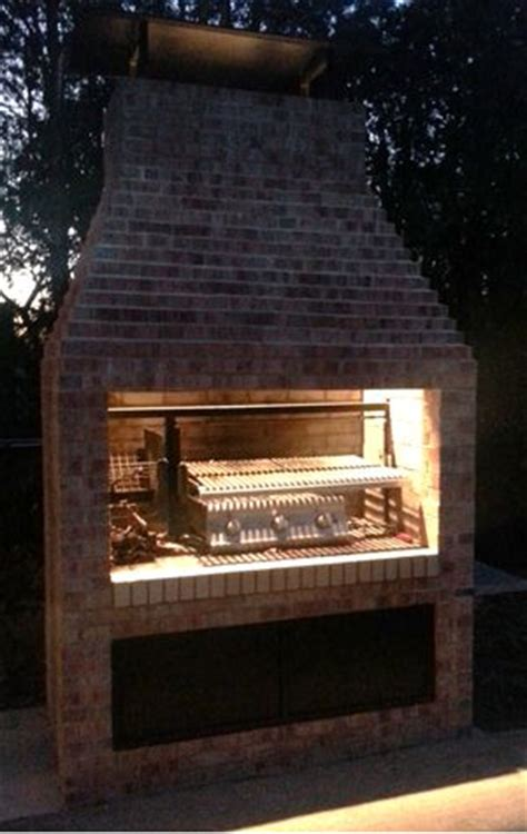 gaucho grill argentine masonry insert  outdoor