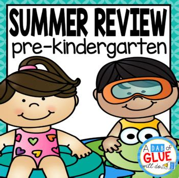 Preschool (prek, Prek) Summer Review  Summer Homework Tpt