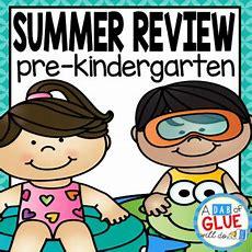 Preschool (prek, Prek) Summer Review  Summer Homework Tpt