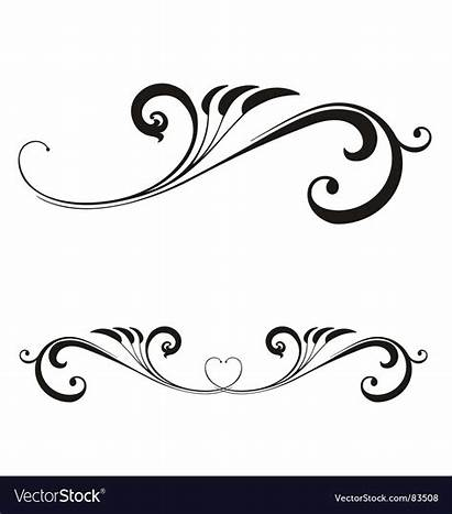 Scroll Vector Valentines Clip Clipart Calligraphy Designs