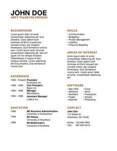 resume exles resume template apple mac iwork pages