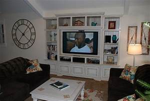 built in wall unit traditional living room detroit With built in wall cabinets living room