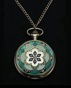 Vintage Style Art Deco Pocket Watch Pendant 3 | Maclin Studio