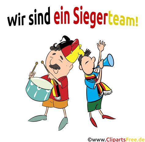 fussballfans deutschland cliparts bilder comicfiguren