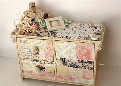 shabby chic jewellery box shabby chic jewelry box with built in ring holder