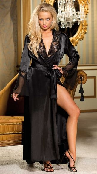 long satin  chiffon robe satin  chiffon robe long