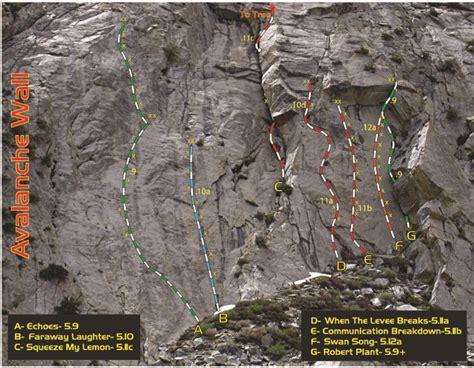 Rock Climbing Avalanche Wall Sierra Eastside