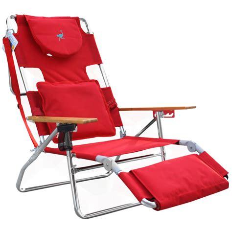 ostrich deluxe 3n1 beach chair lounger red beachstore com