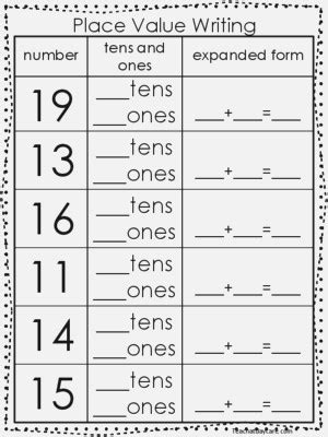 expanded form worksheets 1st grade dailypoll co