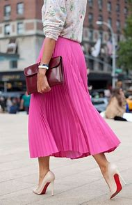 Pink Skirt Street-Style