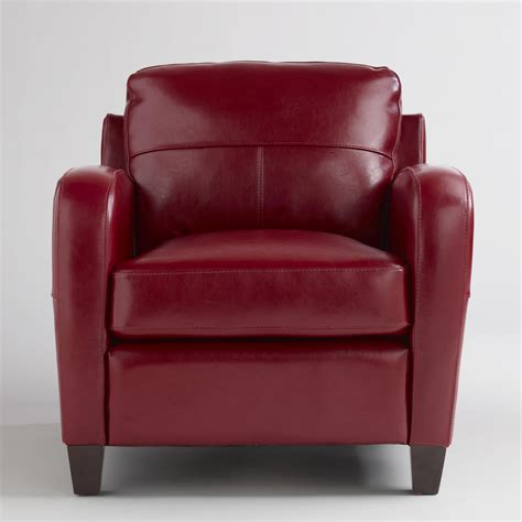 leather chair obsession redbird - Red Leather Sofa And Chair
