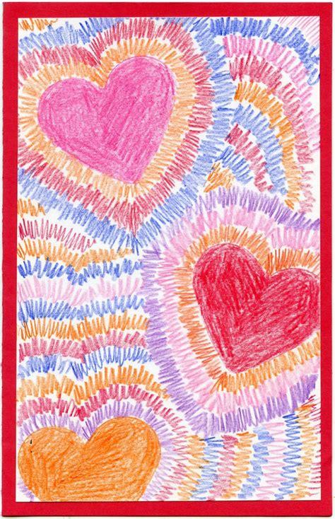 radiating hearts art projects  kids