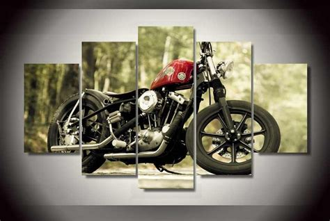 Cool Motorcycle Oil Wall Painting Cheap Wall Picture Art