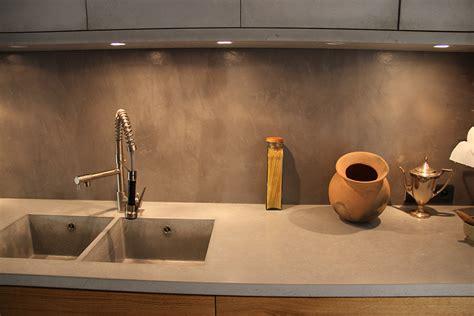 cuisine en béton ciré beton cir pour plan de travail cuisine plan de travail b