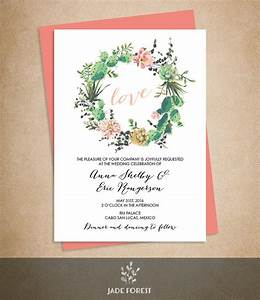 floral wedding invitation diy pink flowers and cactus With handmade wedding invitations with flowers