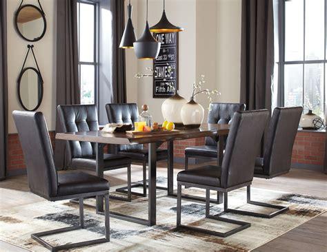 Esmarina Dark Brown Rectangular Dining Room Set From