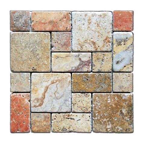 scabos travertine mosaic tile rustic kitchen backsplash kitchen backsplash scabos 2