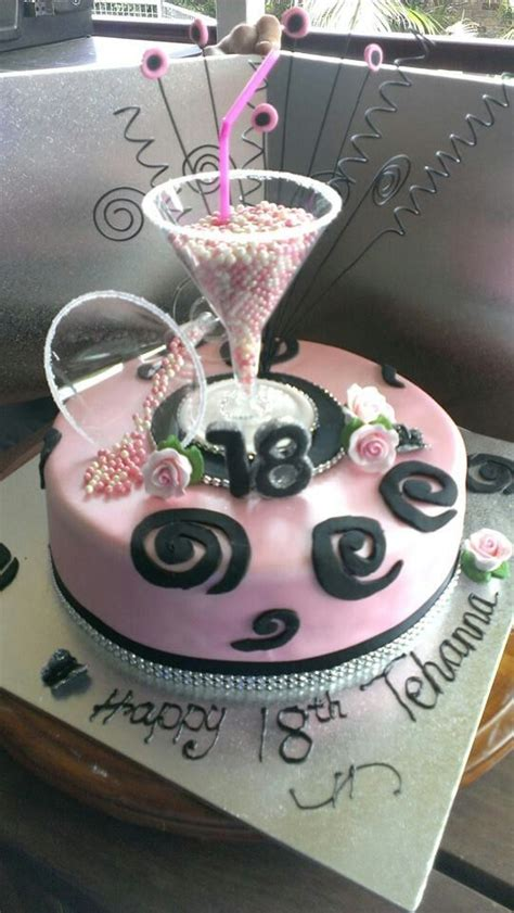 Cocktail 18th Birthday Cake  Cakes  Pinterest 18th